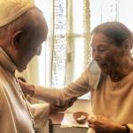 Papa visita Edith Bruck