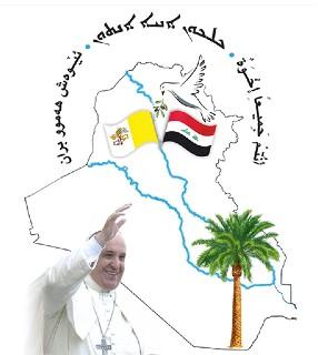 logo da viagem do Papa ao Iraque; haverá visita a Qaraqosh