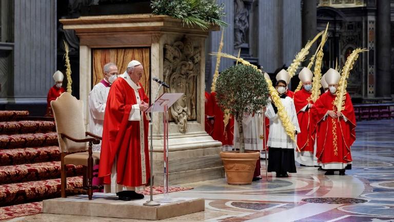 missa com o papa neste domingo de ramos