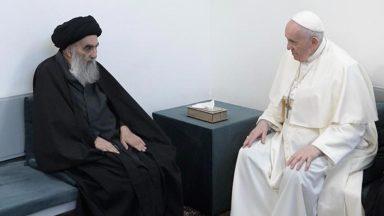 Papa Francisco visita o Grande Aiatolá Al-Sistani em Najaf