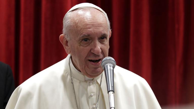 papa francisco falando evento Lucia Ballester CNA Ser uma Igreja da ternura e para os pobres, pede Papa à Cáritas Italiana