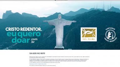 Meta do Santuário Cristo Redentor é arrecadar 500 toneladas de doações