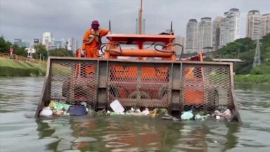 Governo de São Paulo realiza obras de despoluição do Rio Pinheiros