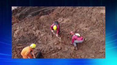 Bombeiros de Minas Gerais retornam com as buscas em Brumadinho