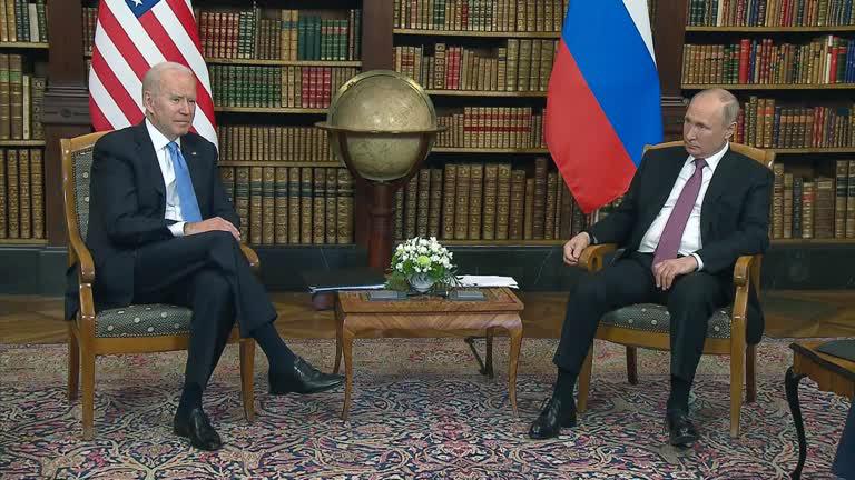 Biden Putin encontro Reuters Joe Biden e Vladimir Putin se reúnem em Genebra, na Suíça