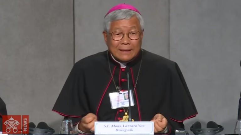 Dom Lazarus You Heung sik reproducao vatican news Bispo coreano é o novo prefeito da Congregação para o Clero