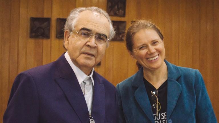 irma eliane e padre zezinho arquivo pessoal Padre Zezinho completa 80 anos de vida a serviço da evangelização