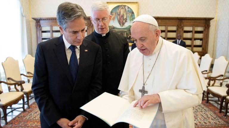 papa e o secretario de estado dos estados unidos vatican media via reuters Papa recebe o secretário de Estado dos Estados Unidos