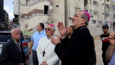 Gaza recebe a vista do Patriarca Latino de Jerusalém