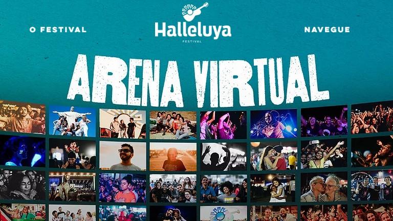 página de inscrição na arena virtual do Festival Halleluya