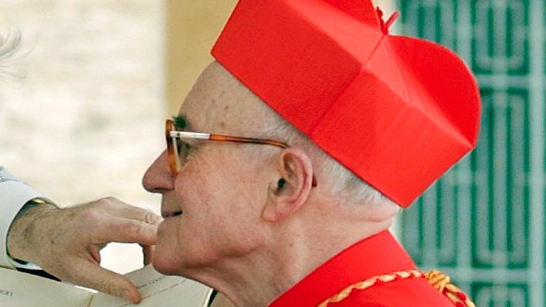 cardeal francês Albert Vanhoye REUTERS Osservatore Romano Cardeal Sandri preside exéquias do cardeal Albert Vanhoye, S.I