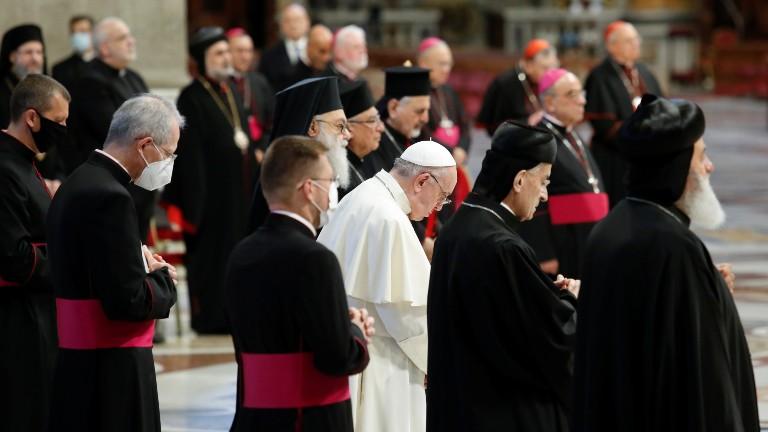 papa e patriarcas orientais no dia de oração pelo líbano