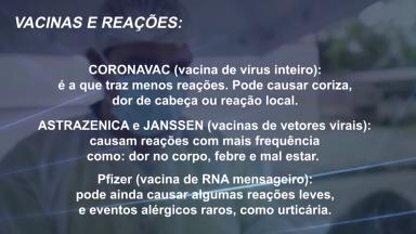 Veja como as pessoas reagem com a vacina contra a covid-19