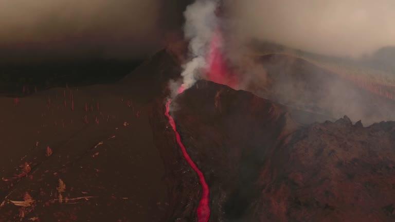 erupção de vulcão nas ilhas canárias