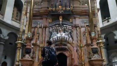 Restauração na Basílica do Santo Sepulcro é retomada