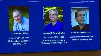 Nobel de economia vai para os pioneiros em 'experimentos naturais'