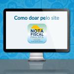 Como doar sua NF Paulista pelo site