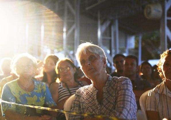 Fiéis participam do encontro na Canção Nova. Crédito da foto: Wesley Almeida/cancaonova.com