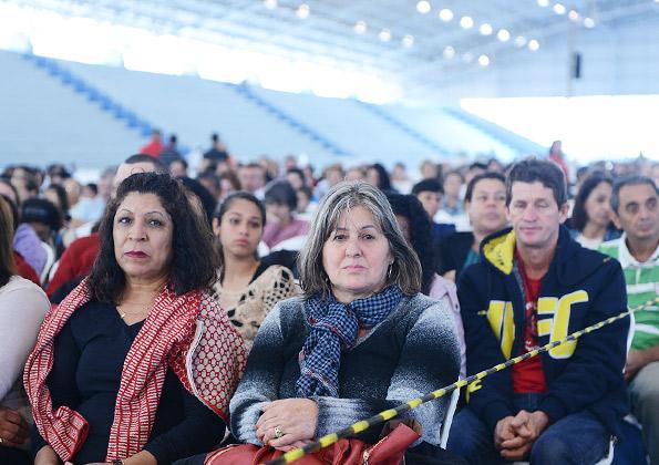 Peregrinos participam da pregação no Encontro Ágape / crédito da foto: Wesley Almeida
