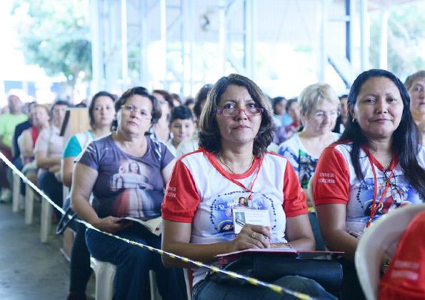 Fiéis participam do 6º Encontro da Divina Misericórdia na CN. Crédito da foto: Wesley Almeida