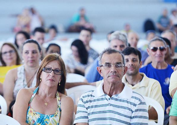 Fiéis participam do Acampamento para Famílias. Foto: Wesley Almeida/cancaonova.com
