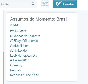 Hosana2014 atinge Trending Topics no Twitter