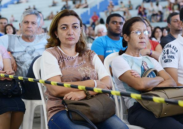 Peregrinos participam do Acampamento de Ano Novo na Canção Nova. Foto: Daniel Mafra/cancaonova.com