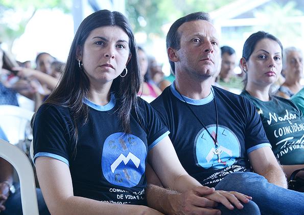 """Peregrinos atentos à pregação do jorge Aparecido no Acampamento """"Preparai o Caminho"""" - Foto: Daniel Mafra/cancaonova.com"""