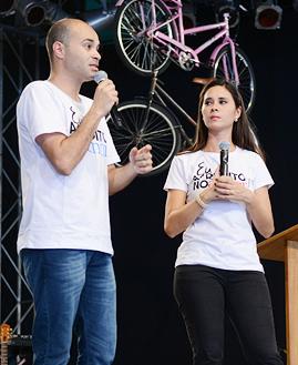 Magda e André. Fotos: Daniel Mafra/ cancaonova.com
