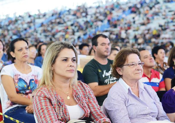 Peregrinos participam da pregação do Ricardo Sá/ Foto: Wesley Almedia/cancaonova.com