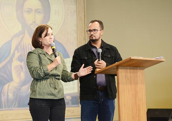 """""""A cada sofrimento, a cada perda tínhamos o Crucificado entre nós."""", relata o casal. Foto: Wesley Almeida/cancaonova.com"""