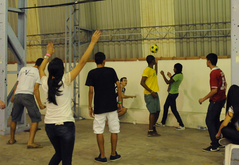 Momento de esporte e interação