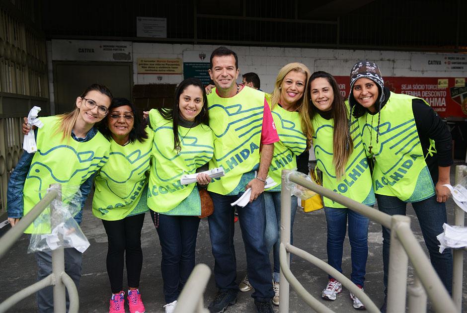 Voluntários contribuem com o evento