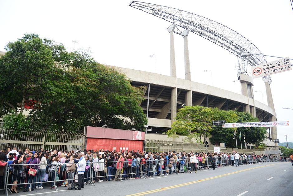 Estádio visto do lado de fora