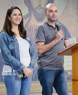 André e Magda. Foto: Daniel Mafra/cancaonova.com