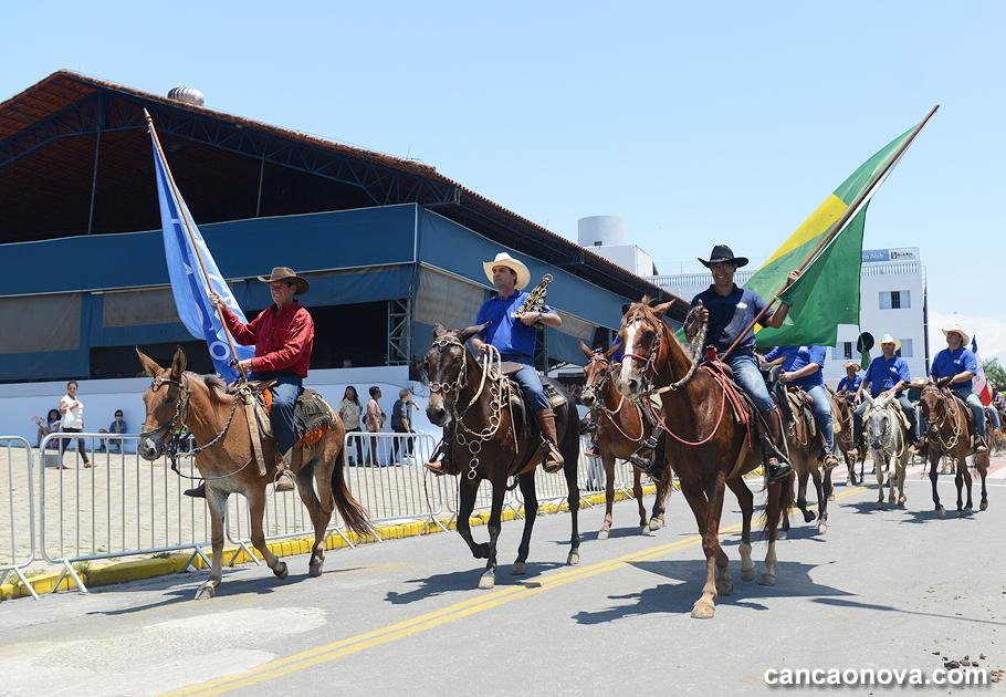 Chegada da Cavalgada na Chácara Santa Cruz