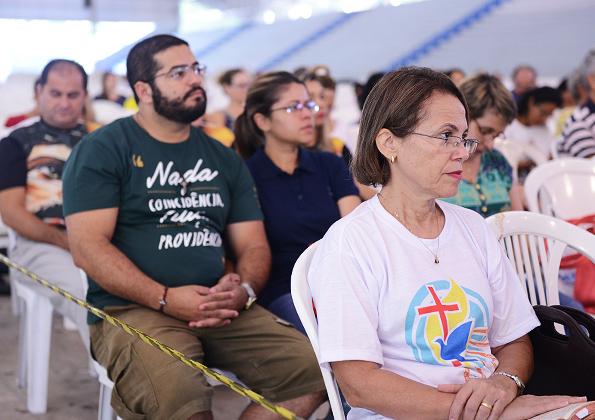 """Peregrinos participam do """"Acampamento Semana Santa"""" na Canção Nova. Foto: Daniel Mafra/cancaonova.com"""
