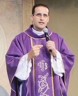 Padre Anderson Marçal. Foto: Daniel Mafra/cancaonova.com