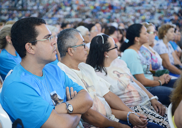Participantes da Festa da Misericórdia. Foto: Daniel Mafra/ cancaonova.com