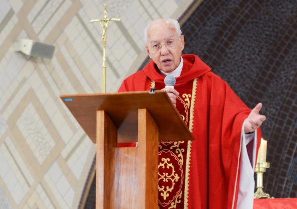 Monsenhor Jonas Abib celebra a Santa Missa na Terra Santa. Foto: ArquivoCN