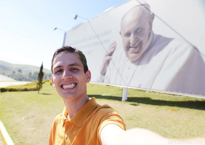 Selfie com o Papa