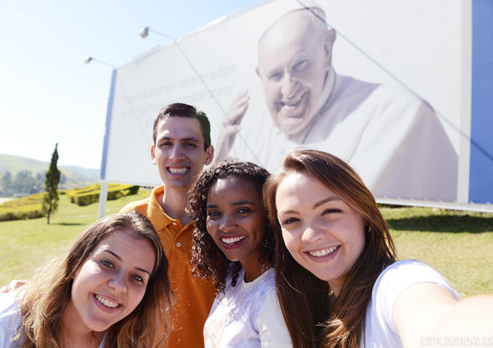 Selfie outdoor do Papa