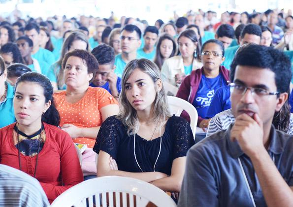 """""""Hoje mais do que ontem e hoje não mais do que amanhã, por que amanhã eu vou dar mais a minha comunidade!"""". Foto: Wesley Almeida/cancaonova.com"""