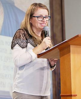 Rogéria Moreira. Foto: Daniel Mafra/cancaonova.com