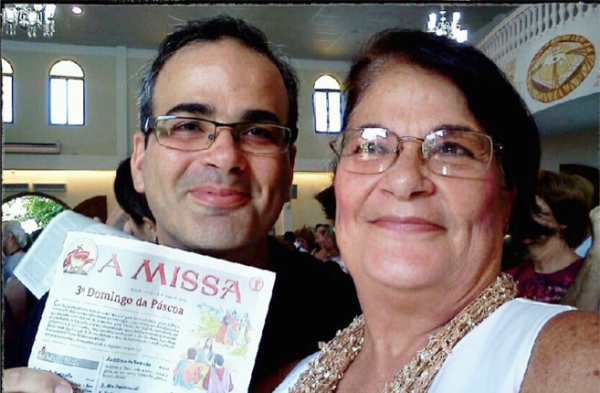 Augusto Cesar e sua mãe. Foto: Arquivo Pessoal