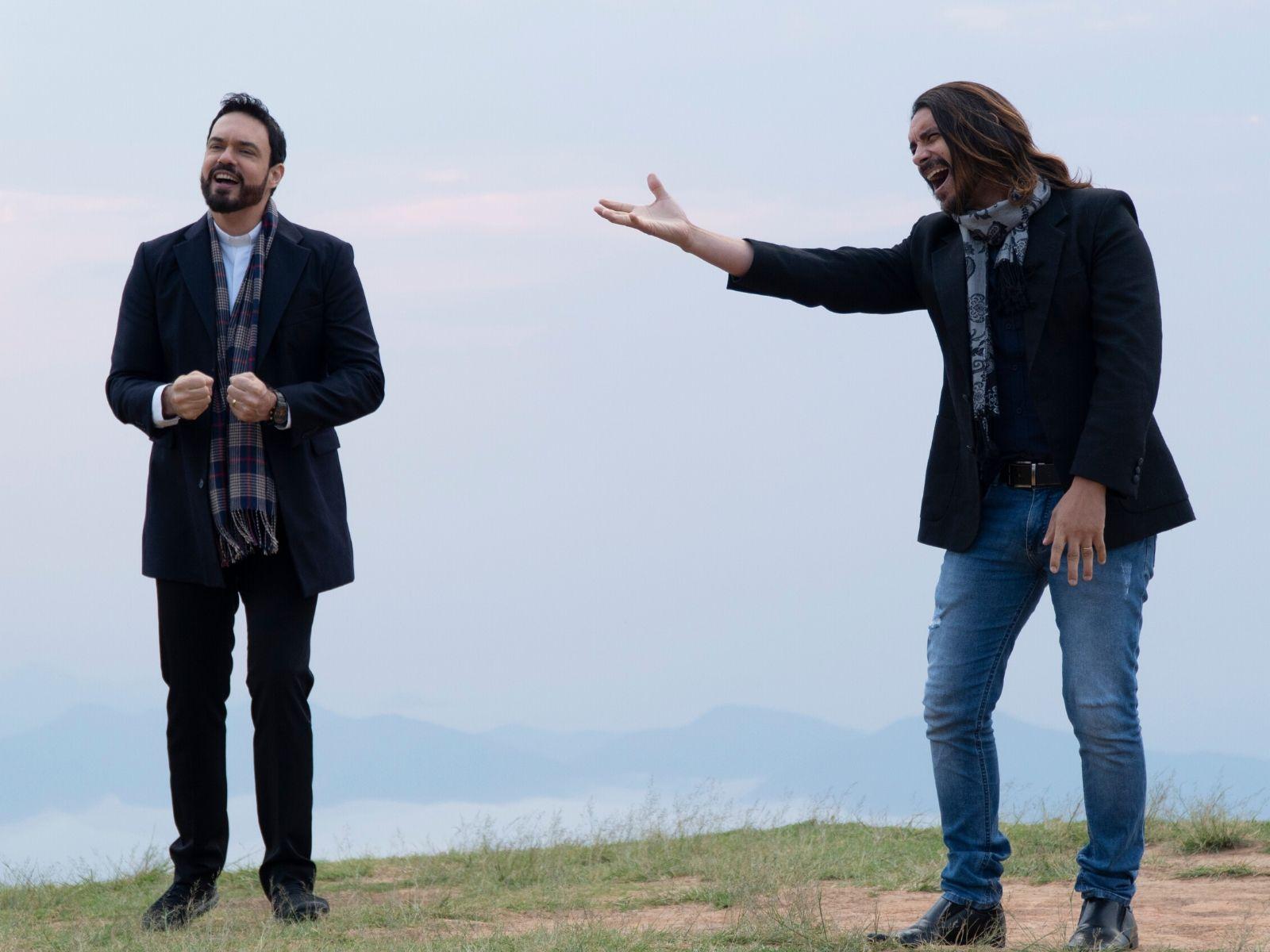 Padre Adriano e André Leite