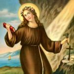 Santa Rosália, levava uma vida de penitência