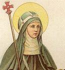 Santa Brígida, dedicou-se ao serviço dos mais necessitados