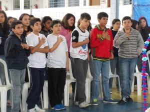 Educandos em Momento Mariano