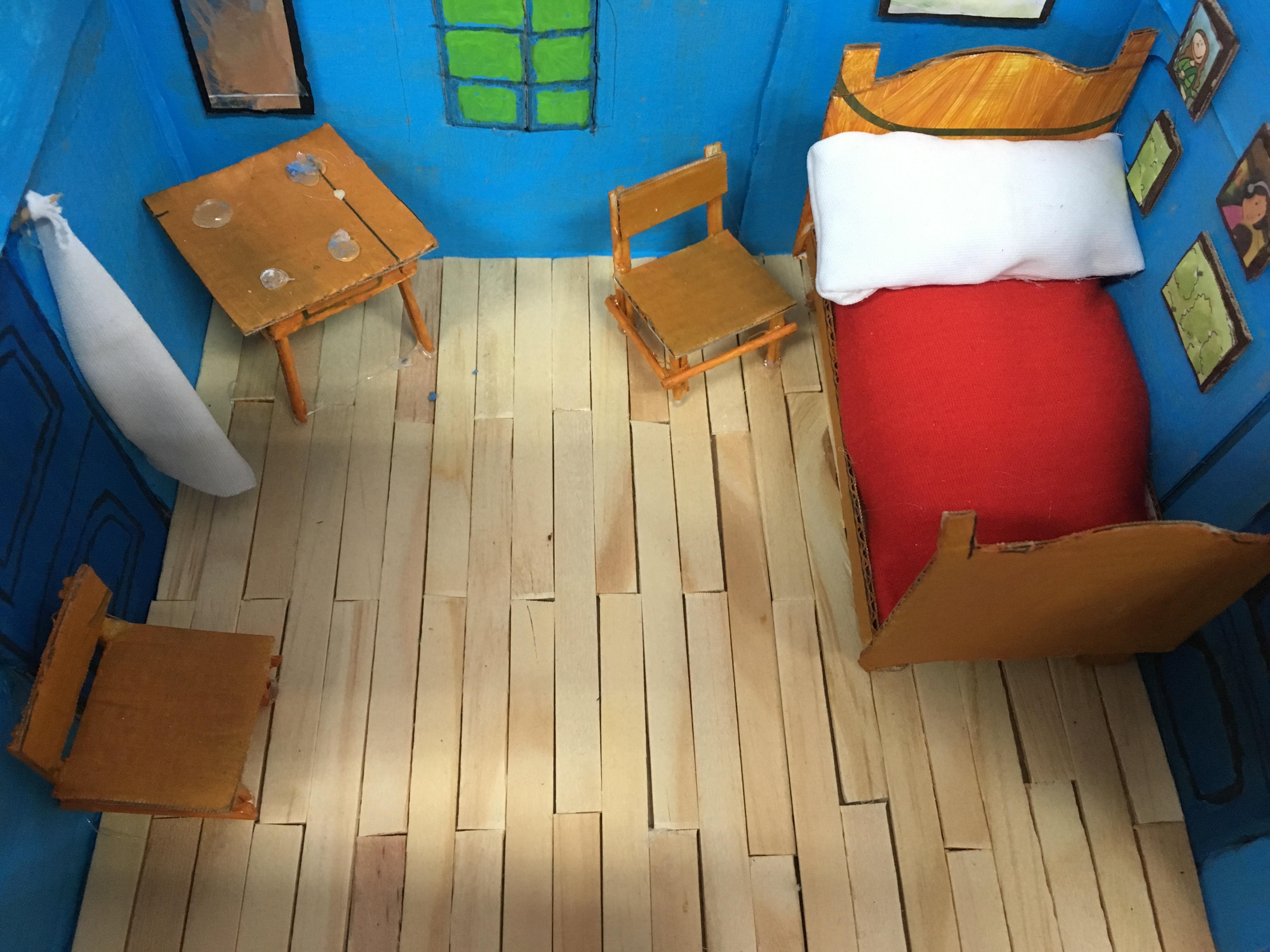 """Réplica de Vincent Van Gogh, obra """"O quarto de Arles"""" (29 ..."""